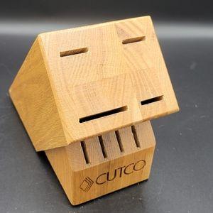 Cutco Honey Oak Wooden Knife Block